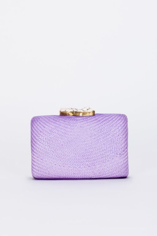 Jen Clutch ~ Orchid With White