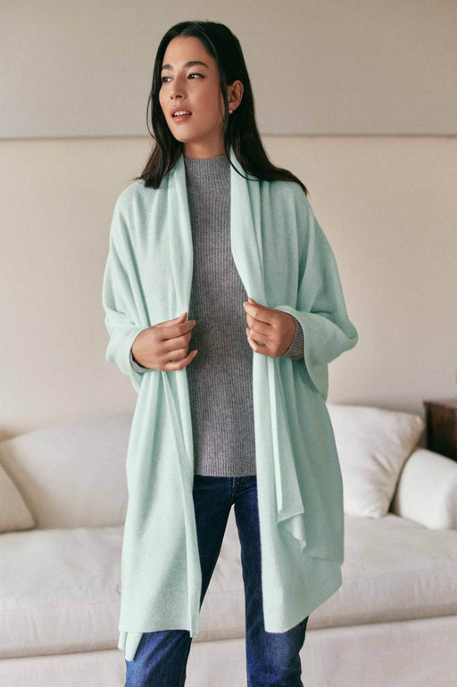 Mini Cashmere Travel Wrap ~ Mint