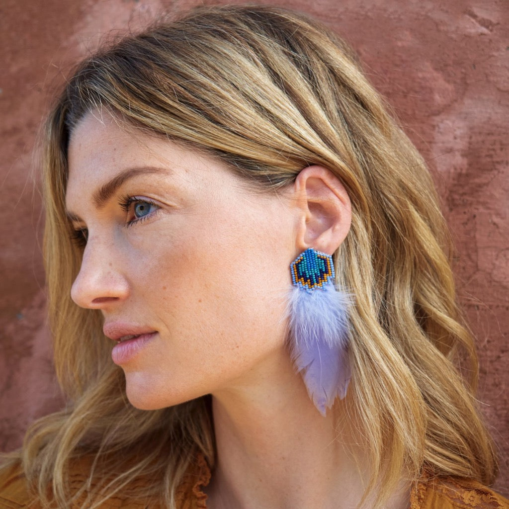 Bowie Earrings ~ Light Lilac