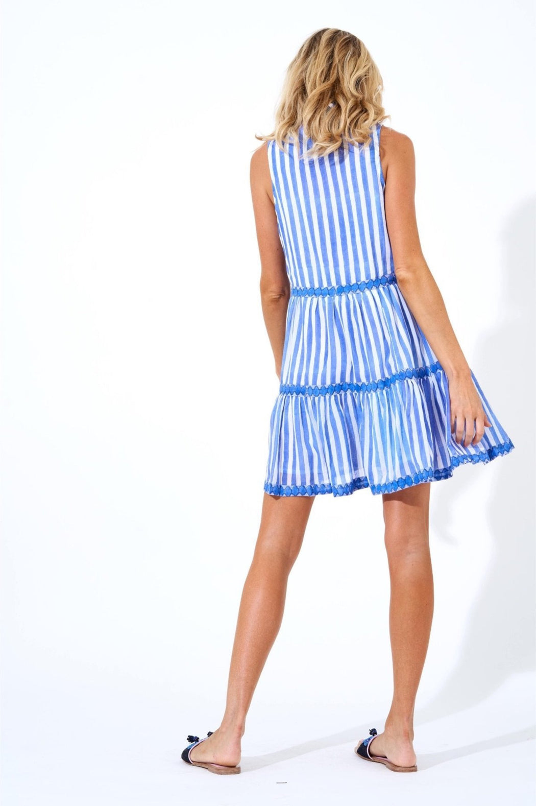 Yoke Dress ~ Nassau Periwinkle