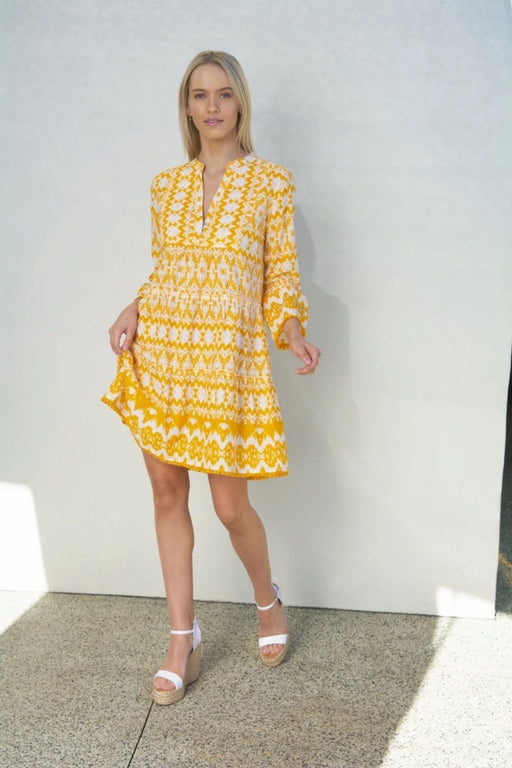 Morocco Mini Dress ~ Apple Gold