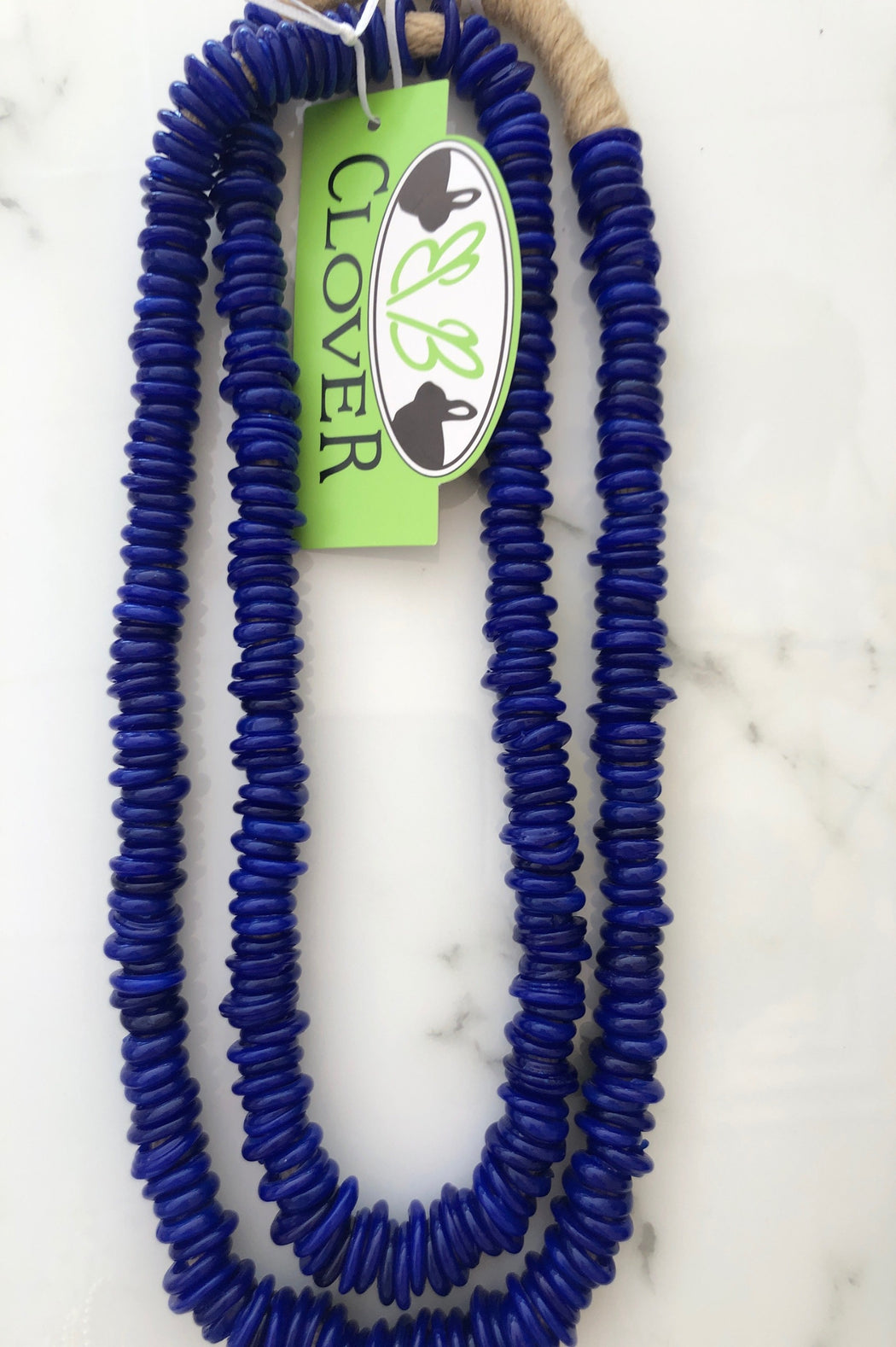 African Trade Beads ~ Shiny Cobalt