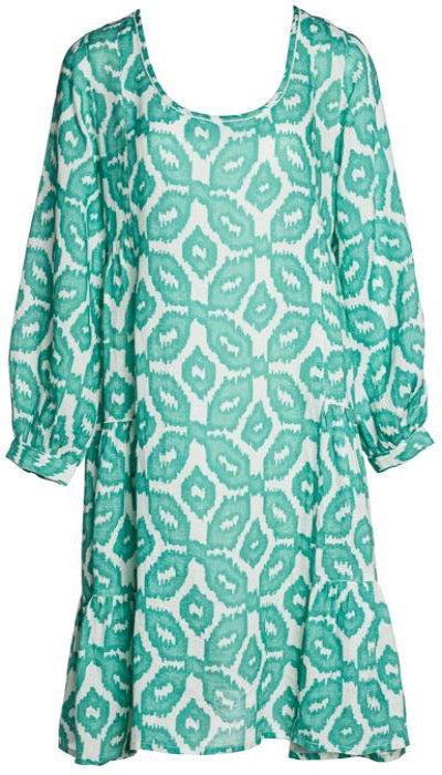 Kyantite Dress- Ikat Green