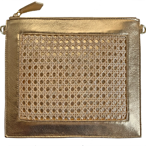 Cane 2.0 Clutch & Crossbody ~ Gold