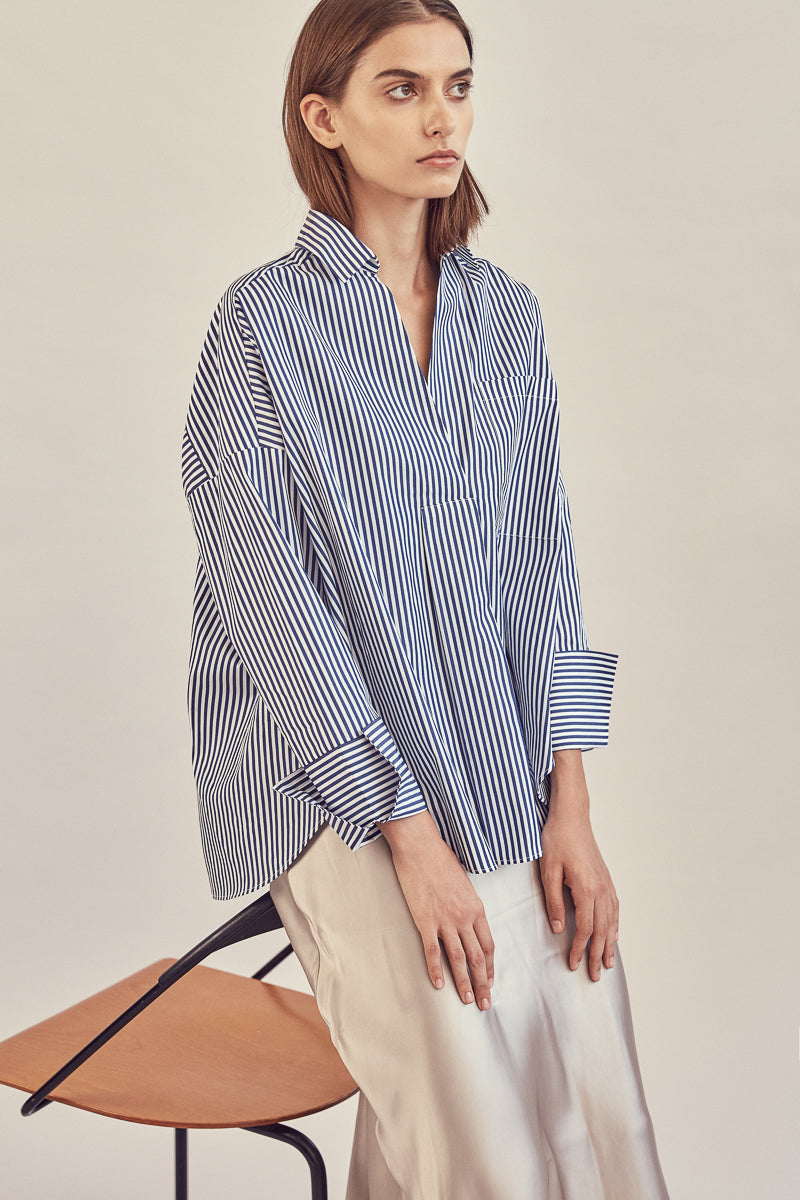 Dreier Shirt ~ Navy Stripes