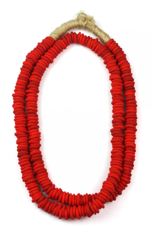 African Trade Beads ~ Matte Red