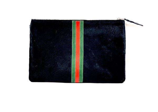 Striped Clutch ~ Black