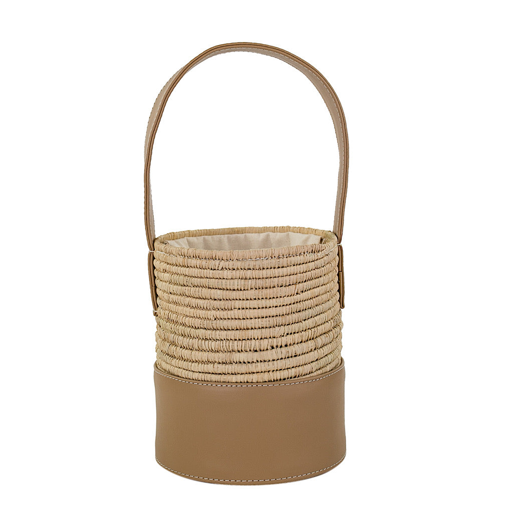 Maroc Basket Bag ~ Natural & Greige