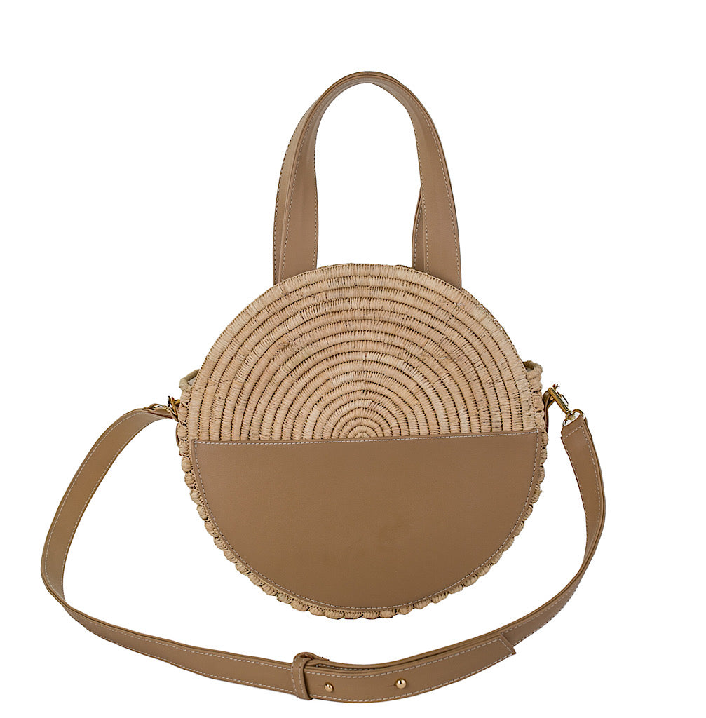Maroc Circle Bag ~ Natural & Greige