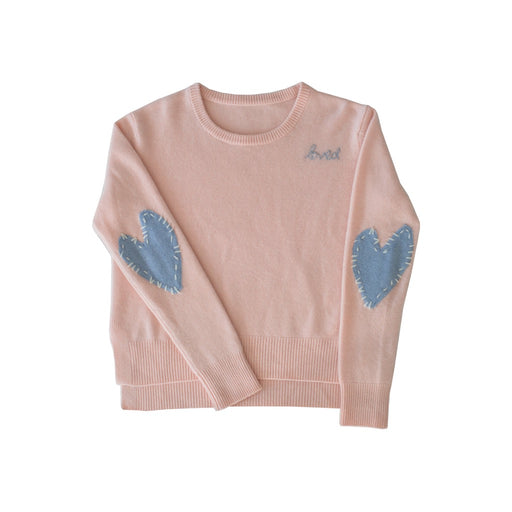 Patchwork Love Cashmere Sweater ~ Blush & Denim