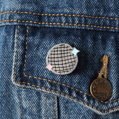 DISCO BALL ENAMEL PIN