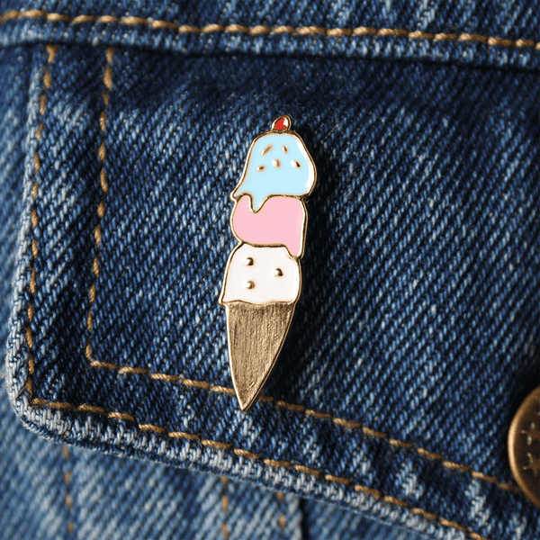 ICE CREAM SOCIAL ENAMEL PIN