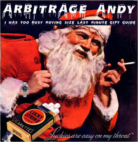ARBITRAGE ANDY CHRISTMAS GIFT GUIDE
