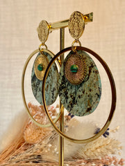 Boucles d'oreille Big Sunny - Turquoise