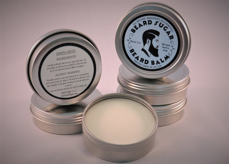 Lemon Grove scented beard balm 2 oz. tin