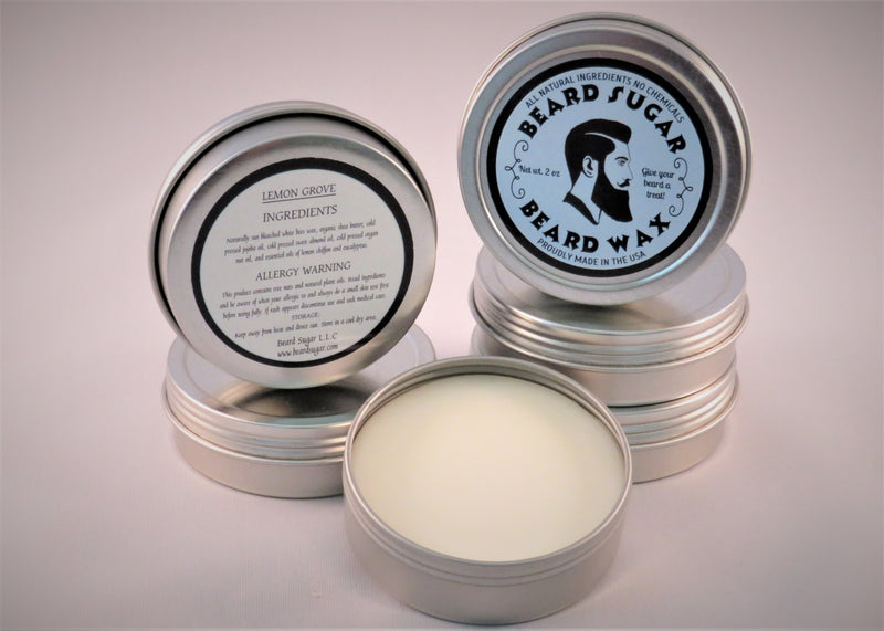 Lemon Grove scented beard wax 2 oz. tin