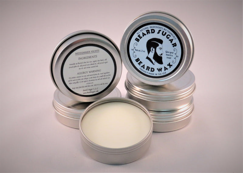 Midsummer Nights scented beard wax 2 oz. tin