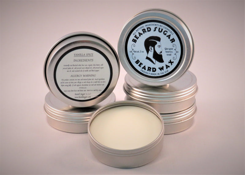 Vanilla Spice scented beard wax 2 oz. tin
