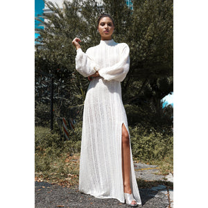Long Knitted Cotton Dress