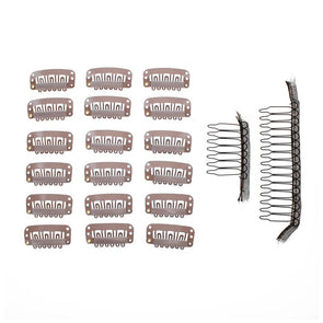 20 Pc Value Clips & Combs Bundle Tan