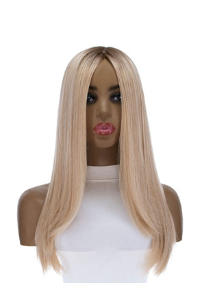 "22"" Ponytail Golden Blonde Balayage Wig"