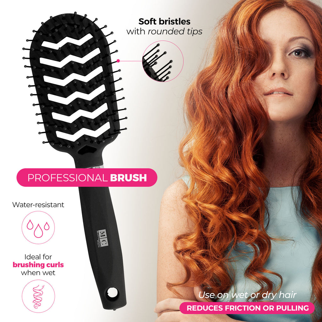 Professional Brush & Comb Set Black