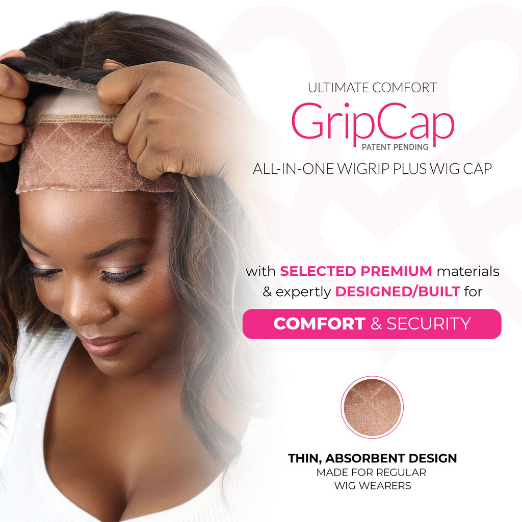 GripCap™ All-in-one WiGrip™ Comfort Band and Wig Cap