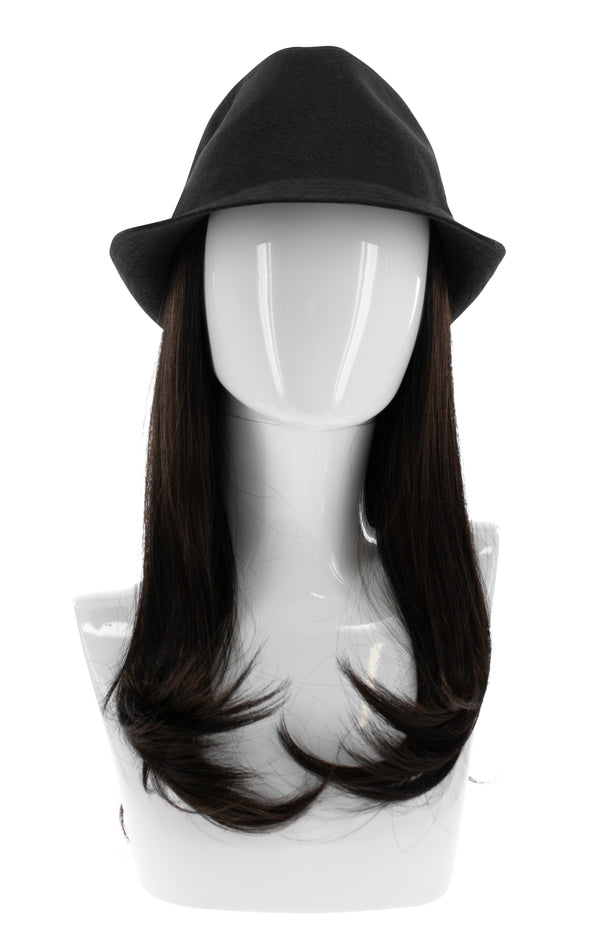 "Adorna Chic 4 PC. Hat and 18"" Synthetic Hair Extension Combo Pack"