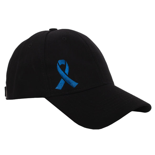 Bobbi Black with Blue Embroidered Ribbon