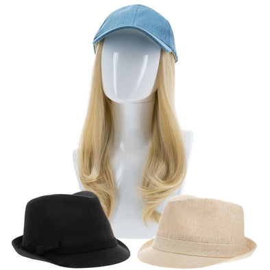 "Chic 4 PC. Hat and 18"" Synthetic Hair Extension Combo Pack"