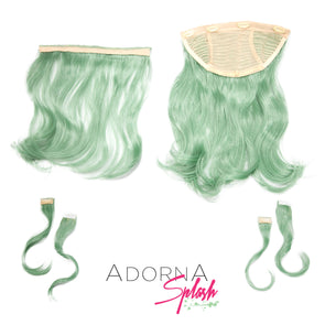 "AdornA Splash 18"" 6pc Synthetic Hair Extension + FREE Baseball Hat"