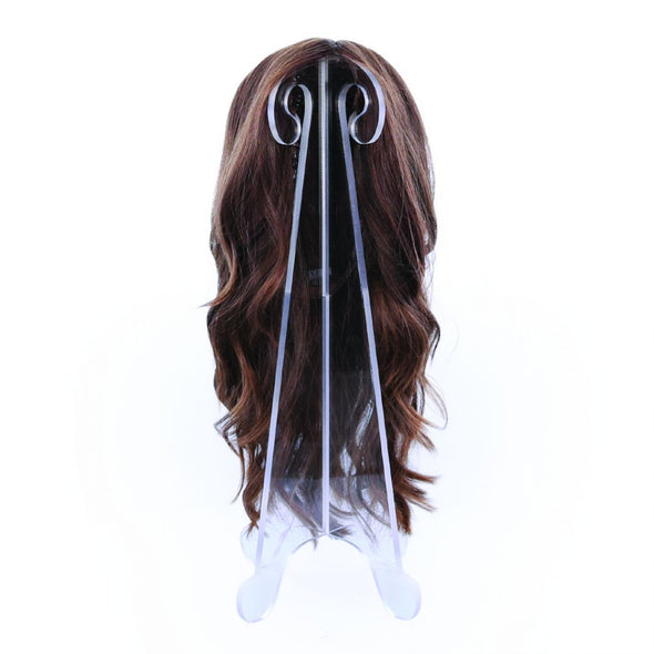 "Premium 18"" Collapsible Folding Clear Acrylic Wig Stand"