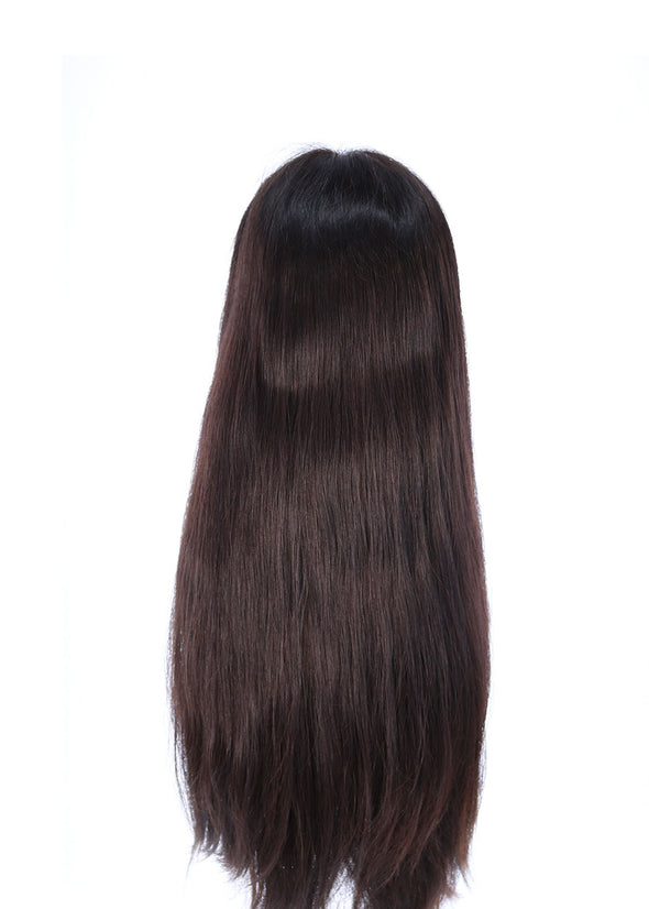"24"" Premium Lace Top Dark Brown Wig"
