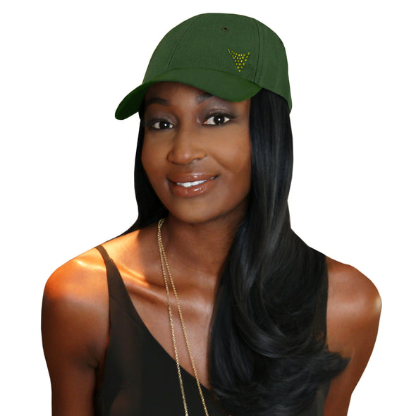 "Chic 18"" One-Piece Black Synthetic Hair Extension + FREE Baseball Hat"