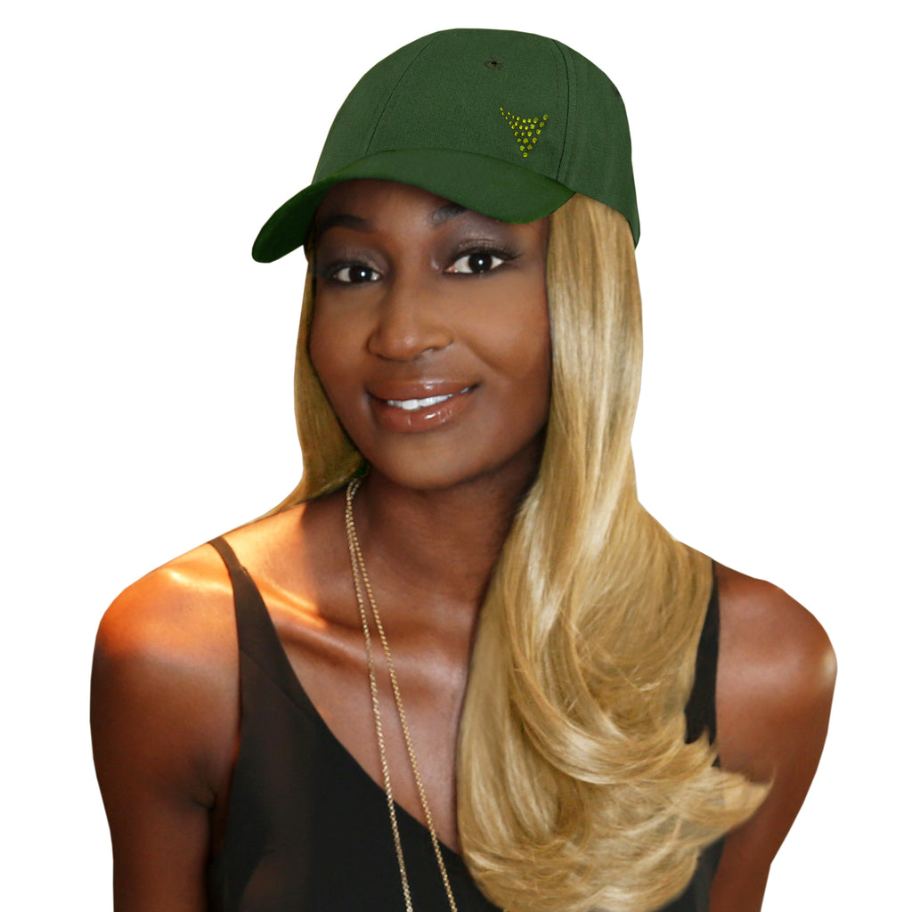"Chic 18"" One-Piece Blonde Synthetic Hair Extension + FREE Baseball Hat"