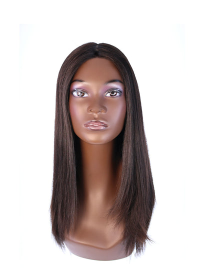 "22"" Ponytail Black Wig"
