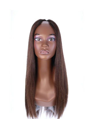 "26"" U-Shape Dark Brown Balayage Wig"