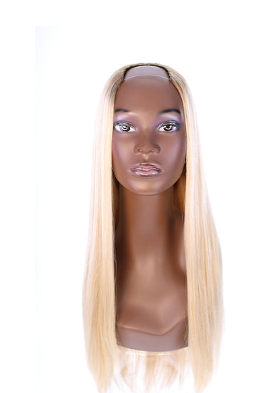 "26"" U-Shape Platinum Blonde Wig"