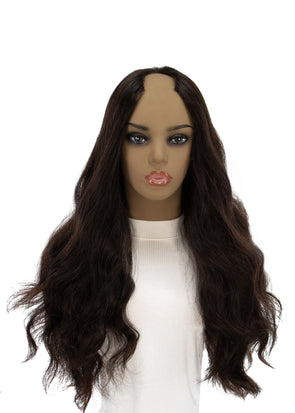 "26"" U-Shape Black Wig"