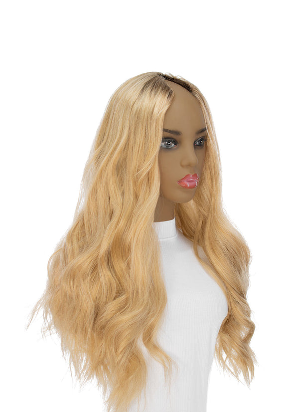 "26"" U-Shape Golden Blonde Wig"