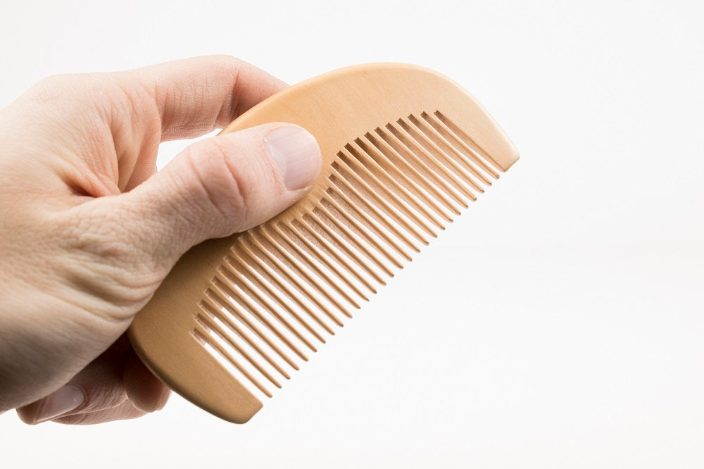 Peach Wood Pocket Comb