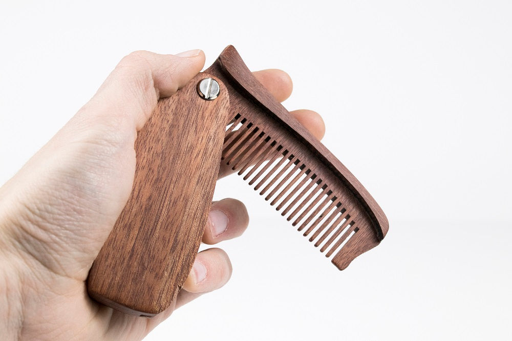 Engraved Folding Pocket Comb