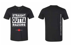 Men's V-Neck Straight Out Of Razors