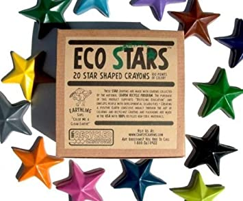 Crazy Crayons Eco Stars 20 pack