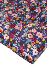 Loulou Lollipop - Crib Sheet - Field Flowers/ Dark - Growing Co. Kids Eco Store