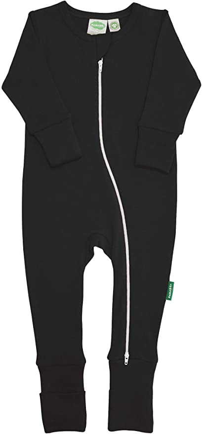 "Parade Organics - Essential Basic ""2-Way"" Zipper Romper - Black - Romper - Growing Co. Kids Eco Store"