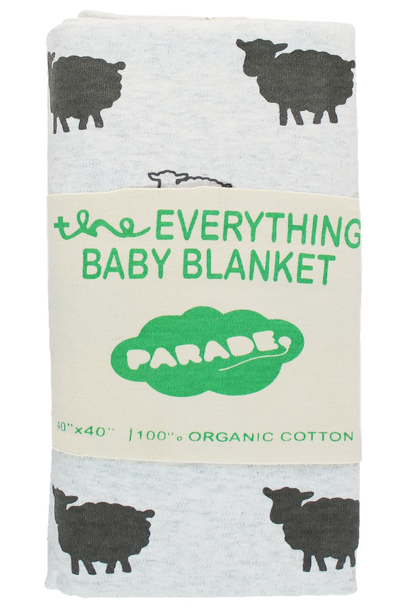 Parade Organics - Everything Blanket - Grey Sheep - Growing Co. Kids Eco Store
