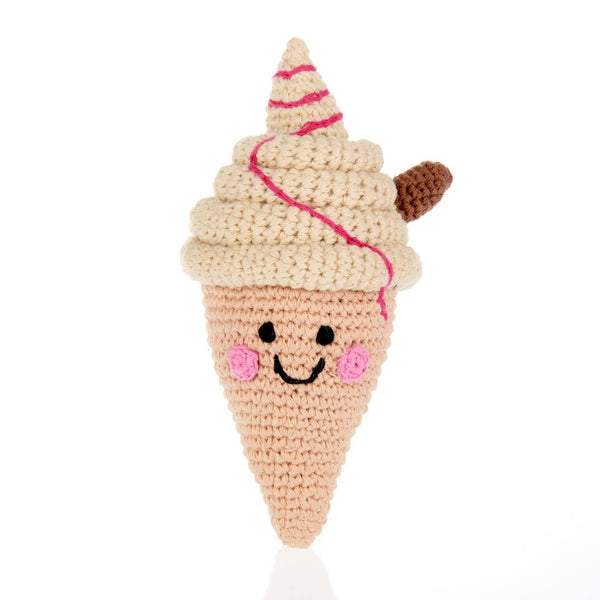 Pebble - Rattle - Ice Cream Cone/Friendly 99 - Growing Co. Kids Eco Store