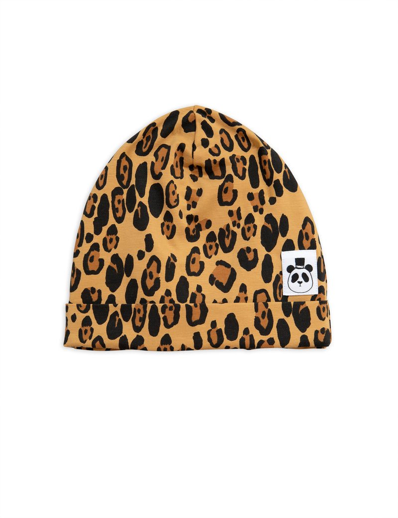 Mini Rodini - Leopard Print Beanie - Hat - Growing Co. Kids Eco Store