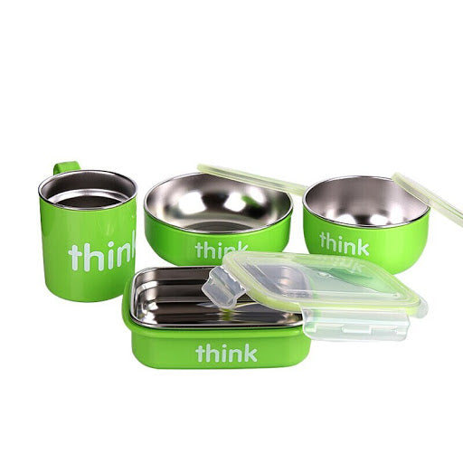 ThinkBaby - The Complete BPA-Free Feeding Set - Airtight stainless steel food container - Growing Co. Kids Eco Store